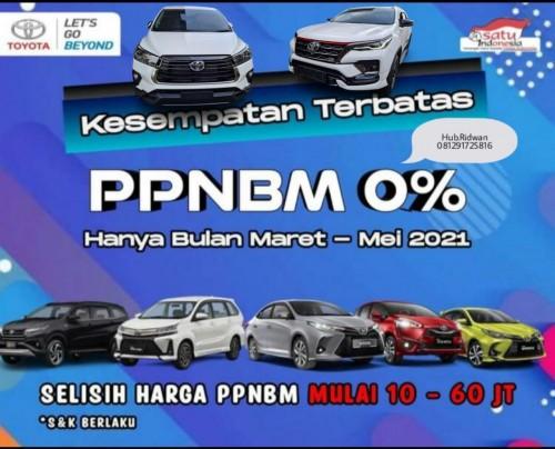 Promo Toyota Potongan Pajak PPnBM 0%